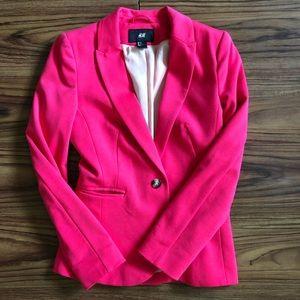 H&M pink blazer, size 2